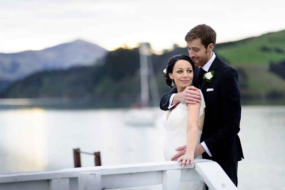 Jane and Ed winter wedding at Vernon Lodge, Akaroa