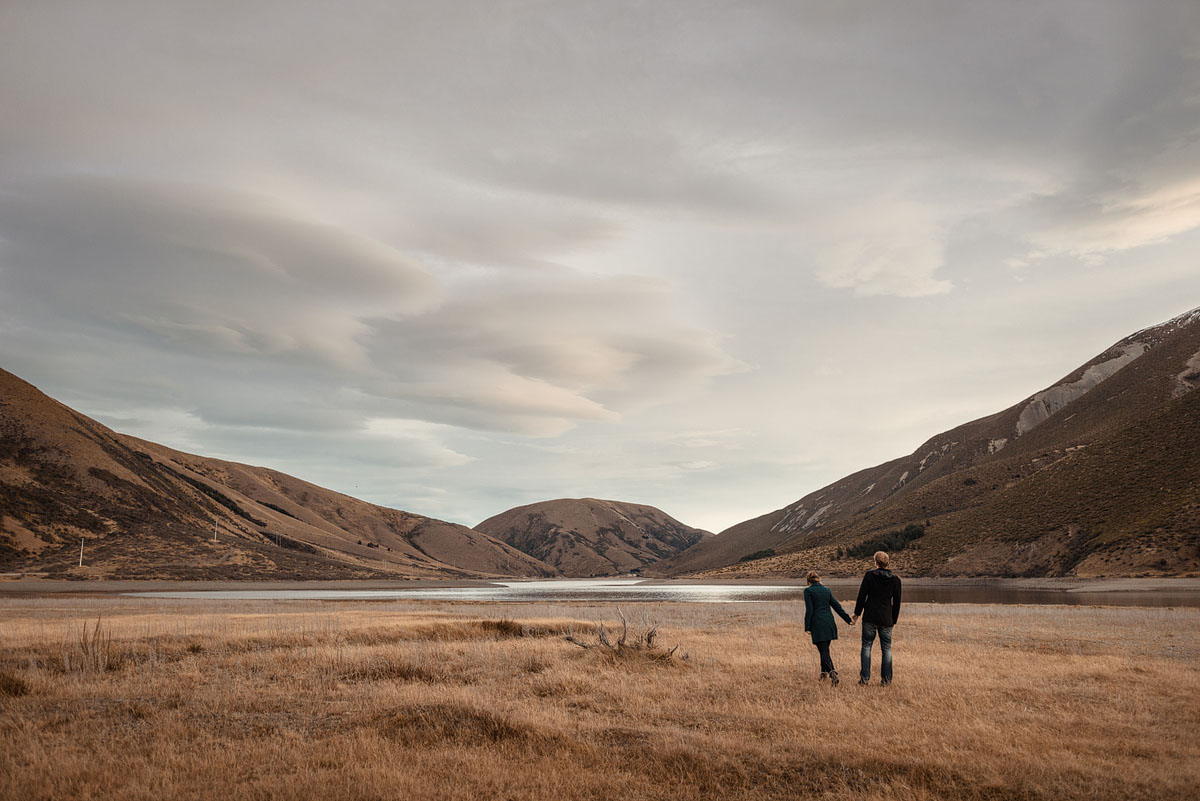 South Island, Canterbury winter engagement shoot