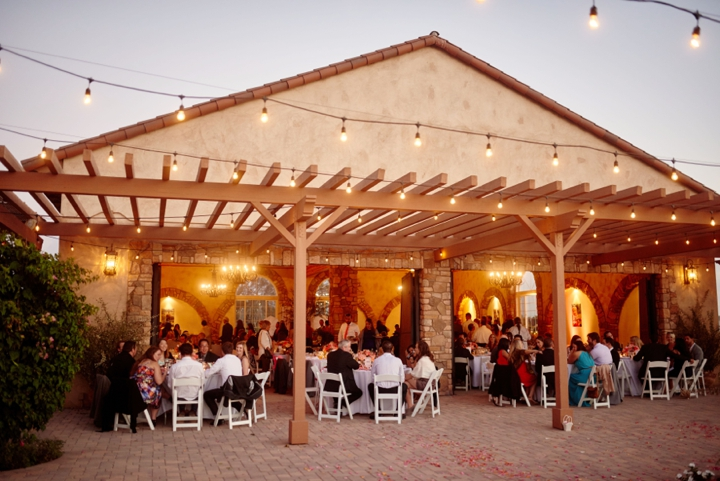Dusk wedding venue - ranch wedding in California