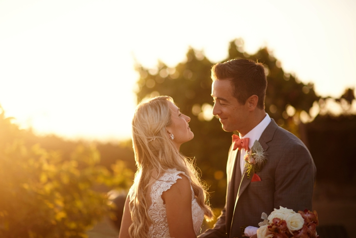 Sunset California wedding photos
