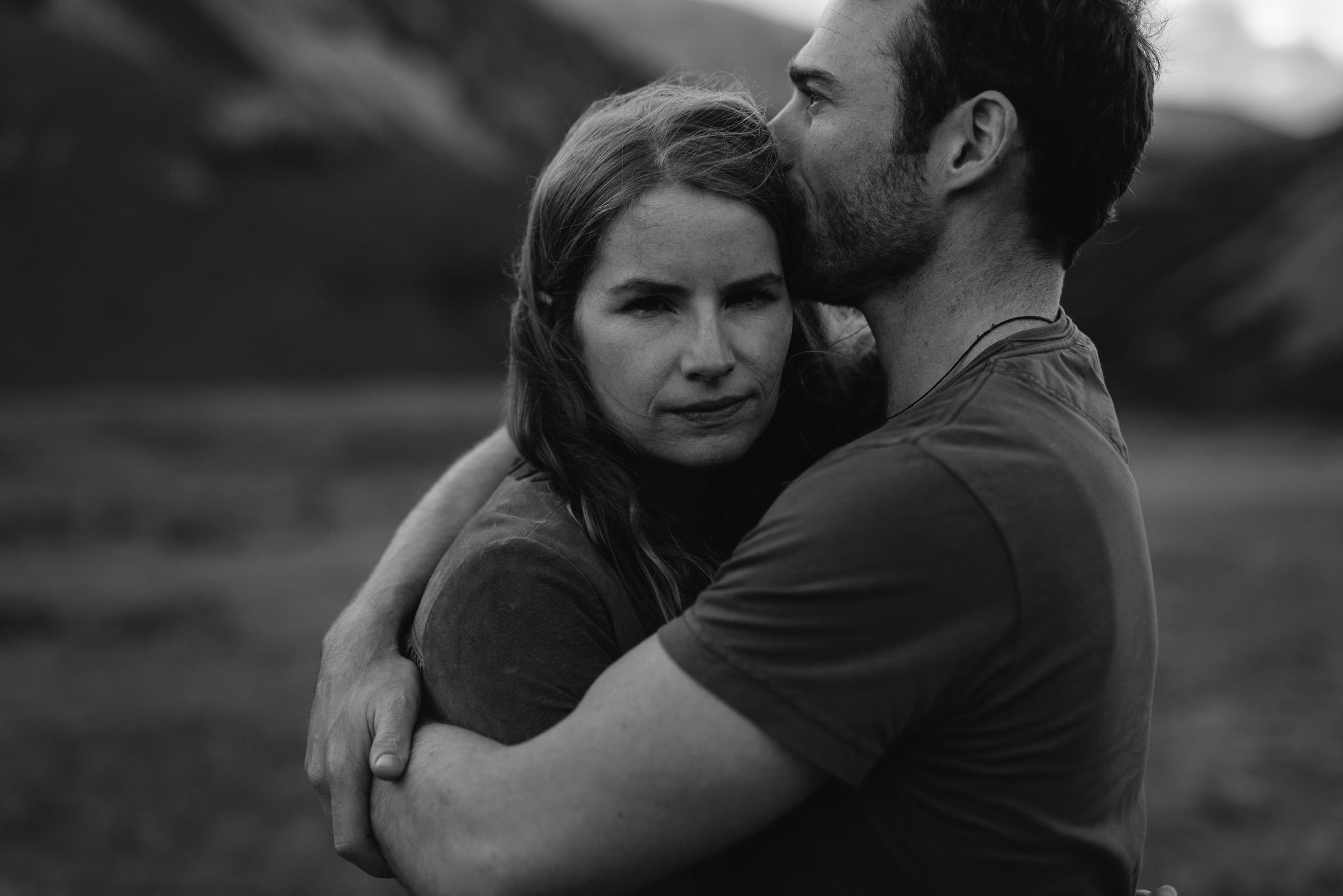Foggy mountain engagement shoot