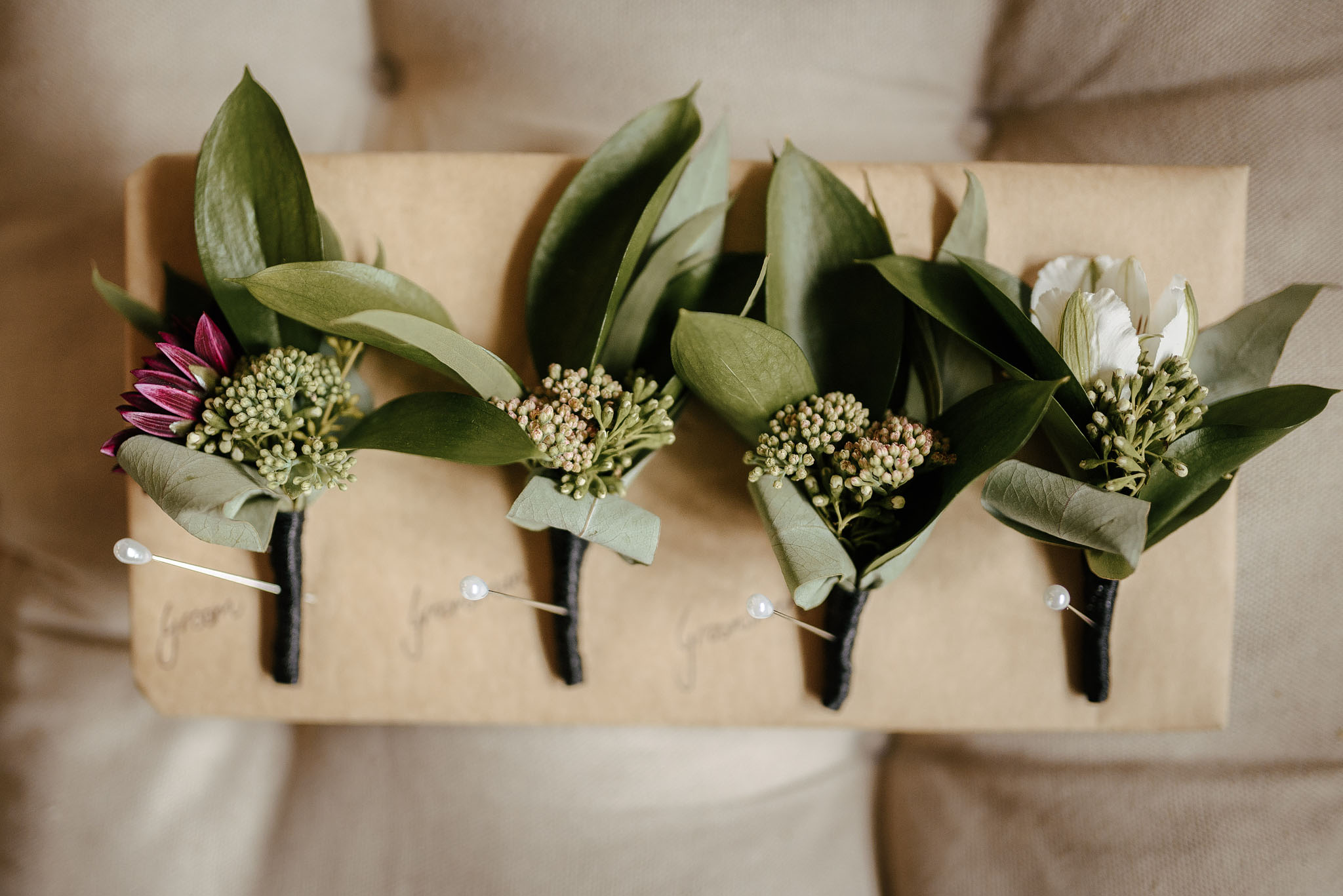 Wedding flowers for Kate and Mark's Christchurch Ferrymead and Quail Island wedding