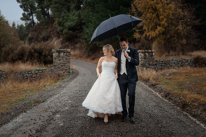 Winter Hanmer Springs Braemar Lodge wedding
