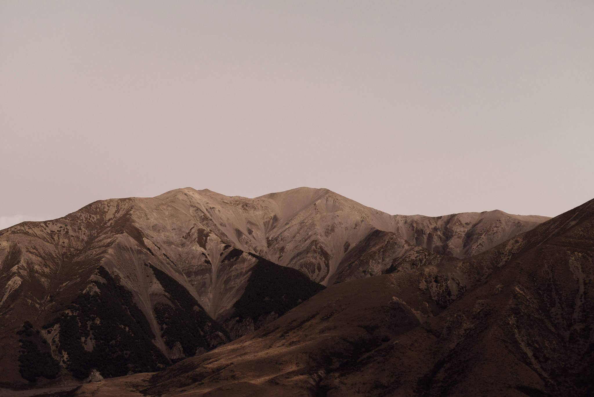 Mountain range at Castle Hill, New Zealand