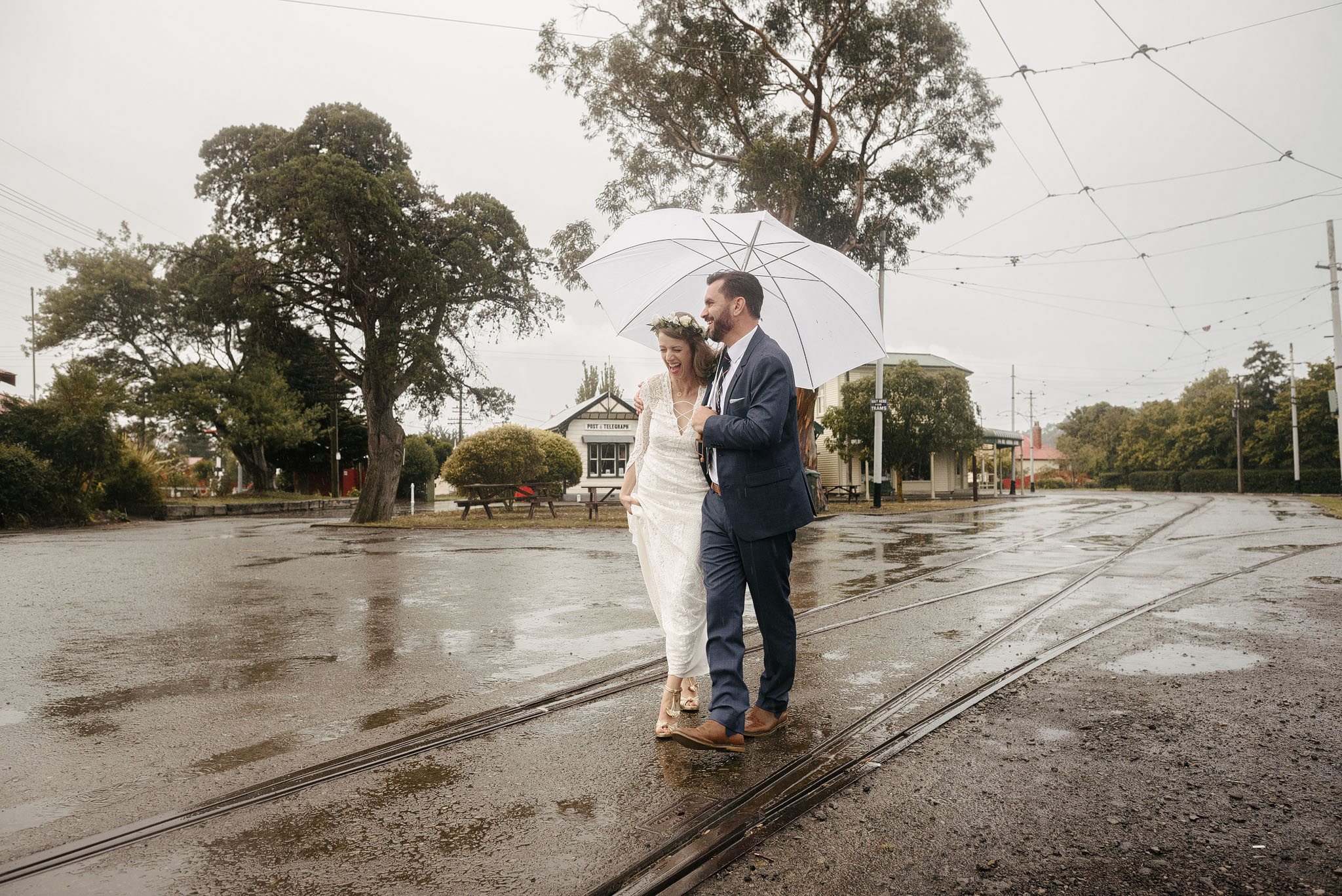 Rainy Ferrymead wedding in Christchurch