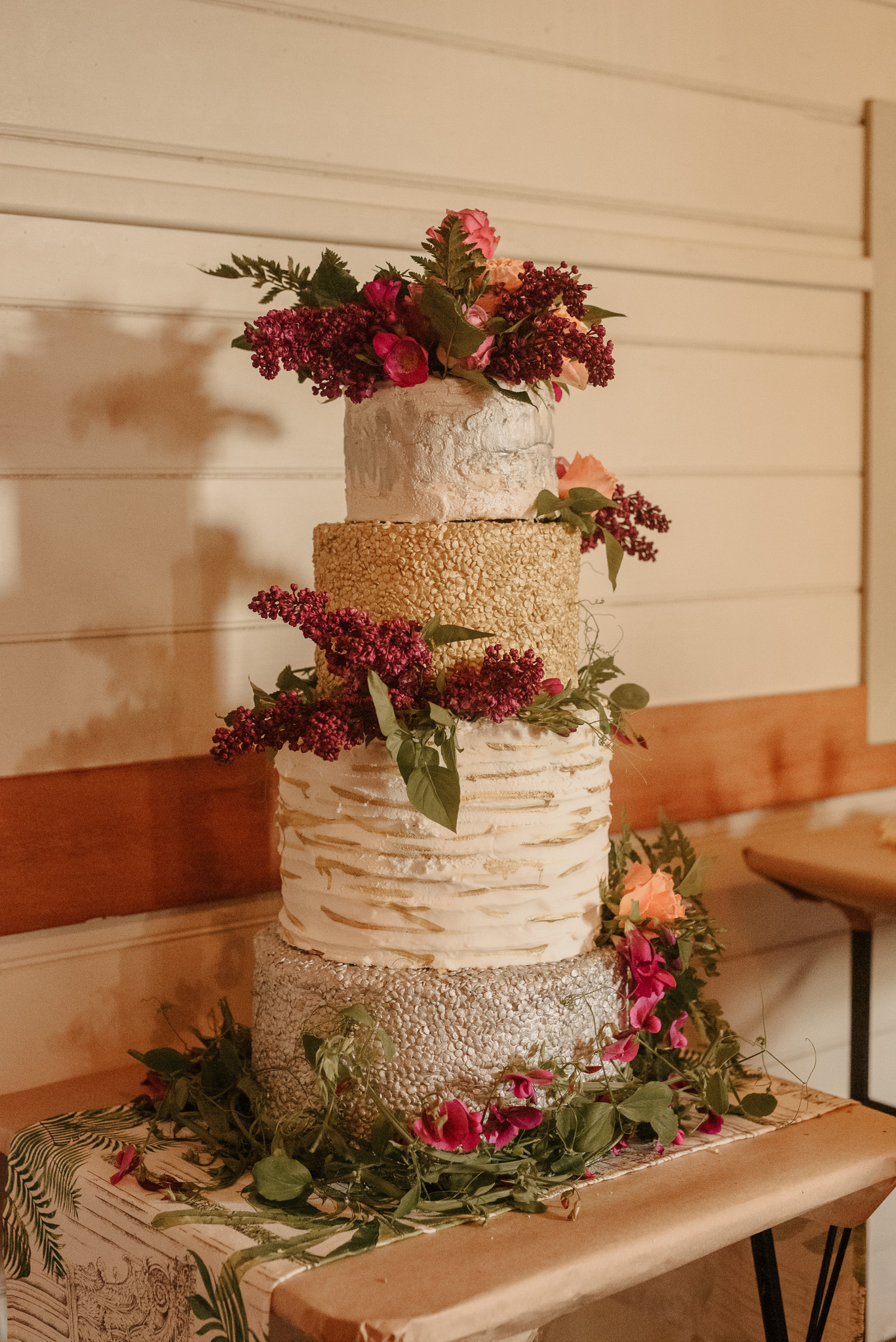 Multi tier wedding cake Christchurch
